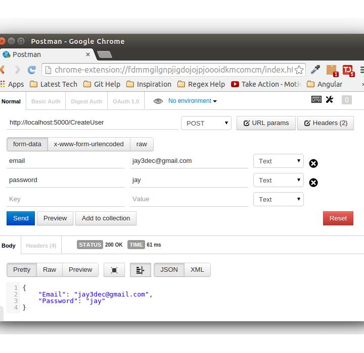Create Flask RESTful API using Python & MySQL - CreateUserAPI