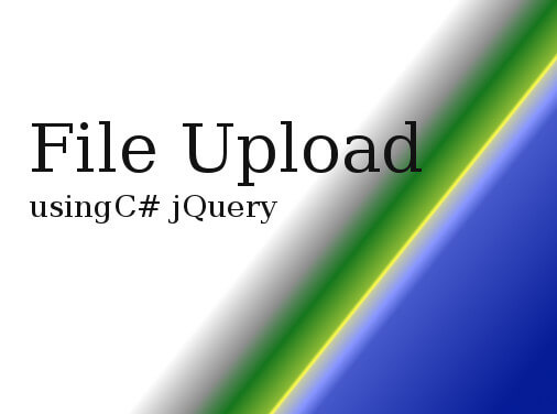 jQuery File Upload in ASP NET C# Web Application
