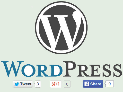 How to Add Twitter, Facebook & Google Plus Share to Self Hosted Wordpress Posts