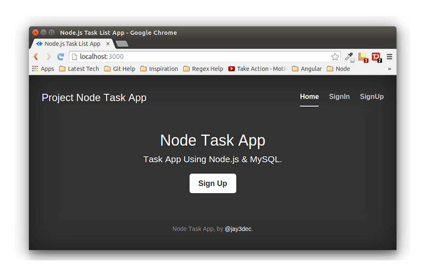Creating a Web App Using Node.js & MySQL – Getting Started