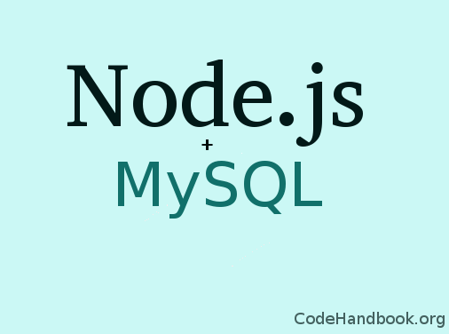 Creating a web app using Node.js and MySQL