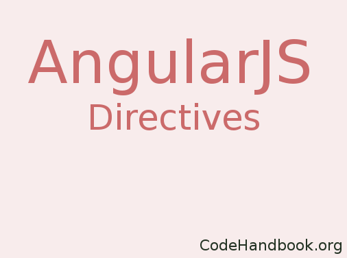 Create AngularJS Directive