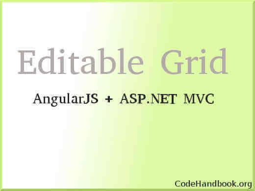 Editable Grid AngularJS ASP.NET