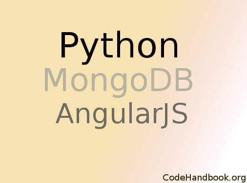 Creating a Web App using Python Flask, MongoDB & AngularJS