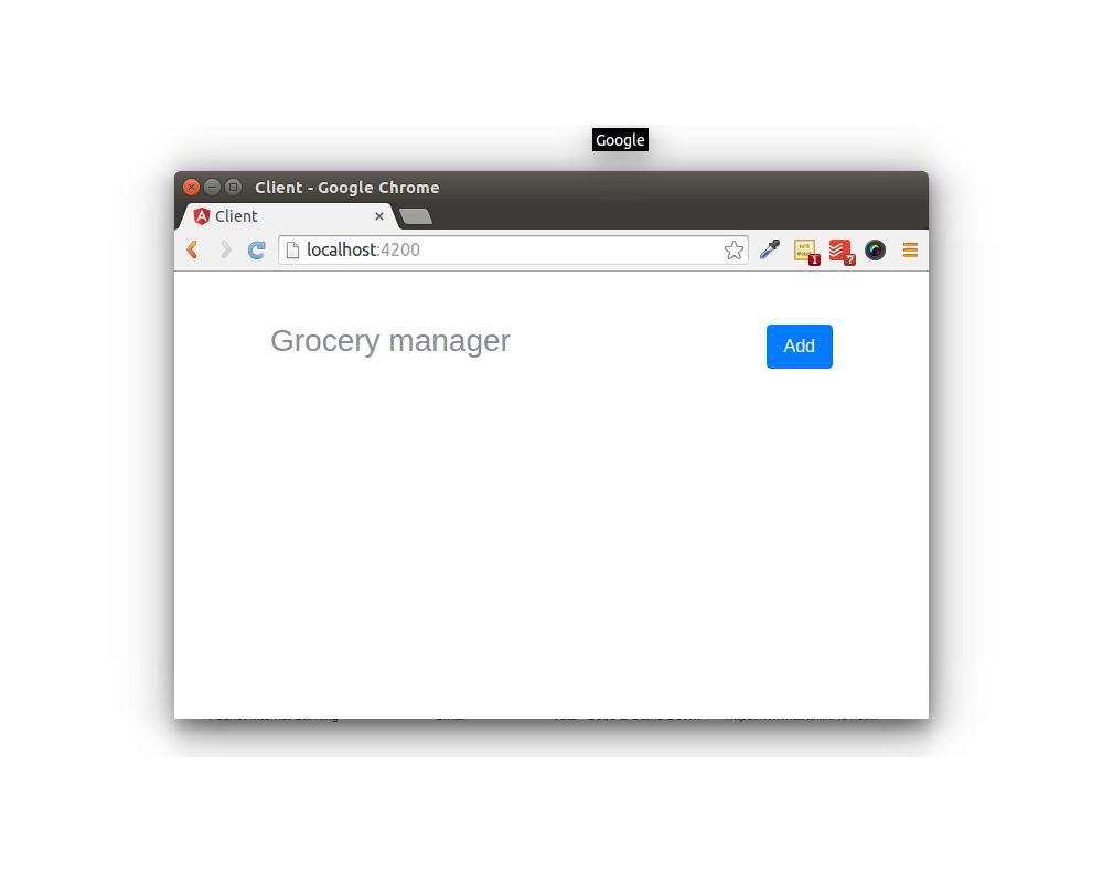 web app using angular