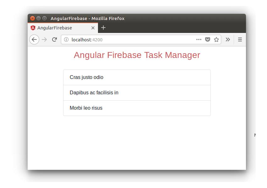 Angular Firebase Task Manager