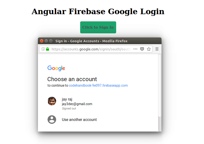 Google Firebase Login