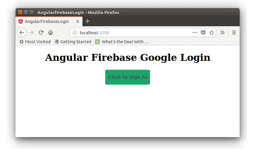 Angular Firebase Login