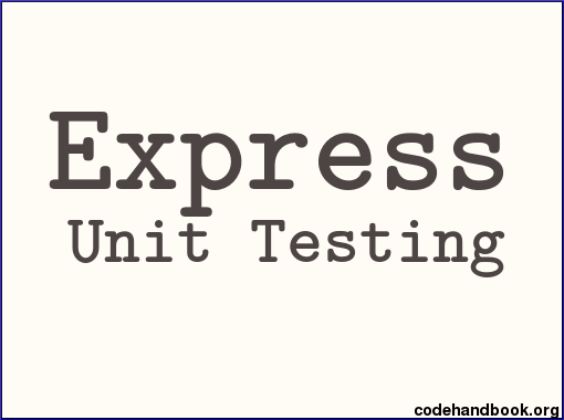 Unit Test Express Route