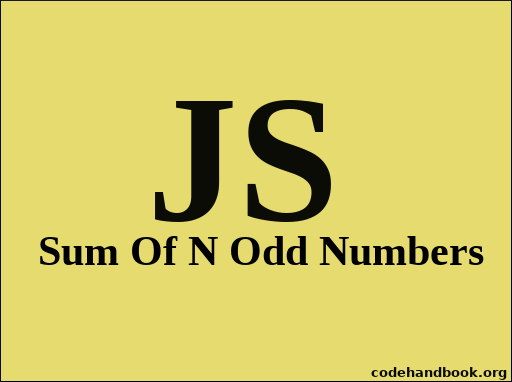 Sum Of Odd Numbers